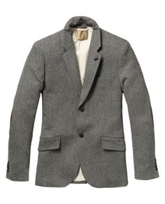 Elbow Patched Wool Blazer