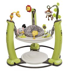 The Exersaucer/Bouncer // Ugh. Where to start...? It takes up way too much space, can be harmful to baby's back/neck/spine when used before baby is developmentally ready, is usually over stimulating with all it's blinking lights, and usually makes obnoxious sounds.