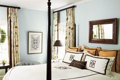 Beautiful Blue Bedrooms: Blue and Brown Master Bedroom