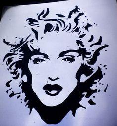 high detail airbrush stencil maddona FREE POSTAGE | eBay