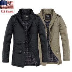 7f788d29bc USA Mens Slim Jackets Coats Winter Designed Fashion Casual Warm Outwear  M-5XL #Casual