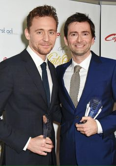 PHOTO OF THE DAY - 21st June 2015: David Tennant and Tom Hiddleston attending the Whats On Stage Awards (2015)