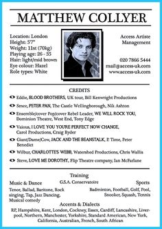 awesome Actor Resume Template to Boost Your Career,