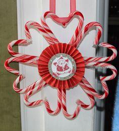 CTMH Craftings: Santa Candy Cane Wreath