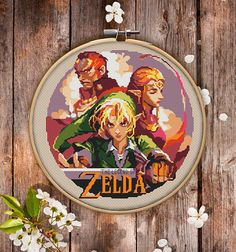 The Legend of Zelda cross-stitch pattern for instant download. Cool cross-stitch version of high-fantasy video game to decorate your living space. You will get 7-pages PDF file, which includes: - main picture for your reference; - colorful scheme for cross-stitch; - list of DMC thread colors (instruction and key section); - list of calculated thread length  The size of the picture is 6.93 X 7.50 (17.60 cm X 19.05 cm) - 120 X 120 stitches on Aida 14 count  It is a digital pattern and will be…