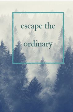 escape the ordinary. travel quote.