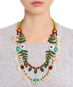 Alpine Flower Statement Necklace