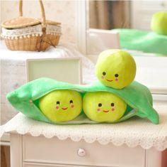 Kawaii Peas Pod Creative Plush Pillow from Elena's House on Storenvy