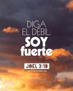 Joel 3:10 Forjad espadas de vuestros azadones, lanzas de vuestras hoces; diga el débil: Fuerte soy. ♔