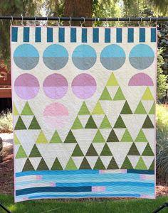 Quilt-achusetts: Mountain Scene Quilt