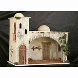 casas para pesebres - Yahoo Image Search Results Christmas Crib Ideas, Christmas Manger, Christmas Nativity Scene, Christmas Crafts, Christmas Decorations, Christmas Ornaments, Fontanini Nativity, Nativity Stable, Pottery Houses