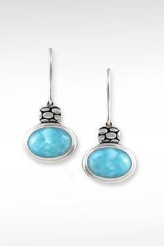 Larimarket - MarahLago Tortuga Collection Larimar Earrings, $210.00 (http://www.larimarket.com/marahlago-tortuga-collection-larimar-earrings/)