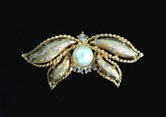 Hattie Carnegie Butterfly Brooch Vintage by LeesVintageJewels