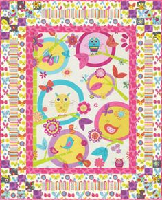 """R Kaufman Fly Away Bouncing Borders Quilt Kit 39"""" x 48"""""""