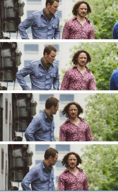 Michael Fassbender and James McAvoy as Magneto and Professor Charles Xavier