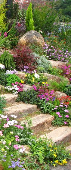 Wonderful ideas for landscaping in the front yard rock garden ., Wonderful Landscaping Ideas for Rock Garden Front Yard Even though age-old around strategy, the particular pergola has been suffering from a bit of a. Hillside Landscaping, Landscaping With Rocks, Front Yard Landscaping, Landscaping Ideas, Backyard Ideas, Front Yard Gardens, Natural Landscaping, Landscaping Software, Rustic Landscaping