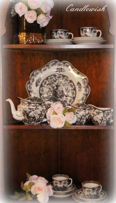 Transfer Ware Tea Set