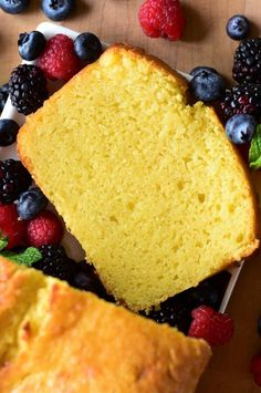 """Ricotta Pound Cake with Vanilla Bean 
