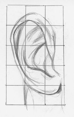 How to make easy drawings drawing ears demo step 1 lee how to draw facial features Drawing Eyes, Drawing Sketches, Pencil Drawings, Art Drawings, Sketching, Drawing Hair, Dress Sketches, Gesture Drawing, Pencil Art