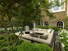 Pergola Ideas For Patio Refferal: 7792231918 Modern Balcony, Modern Patio, Garden Modern, Modern Gardens, Rooftop Terrace Design, Rooftop Garden, Outdoor Spaces, Outdoor Living, Outdoor Decor