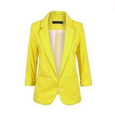 480599122 Women Fomal Slim Suit Coat 3/4 Sleeve Outwear Office Lady Business Blazer  female-in Blazers from Women's Clothing & Accessories on Aliexpress.com    Alibaba ...