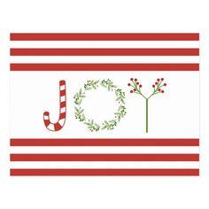 Modern trend Christmas JOY Postcard Christmas Trends, Modern Christmas, Christmas Gifts, Create Your Own, Create Yourself, Envelope Labels, Birthday Fun, Postcard Size, Paper Texture