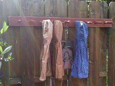 Peg Rack 48 Inch Farmhouse Barn Red and Ready to by FirecrackerKid, $35.00