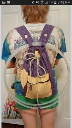 adapt your rucksack easy for your polypro hoops! miss kiki x ❥ Aerial Hoop, Aerial Silks, Hula Hoop Workout, Hallowen Costume, Hoop Dreams, Flow Arts, Fit Girl, Festival Costumes, Wedding Tattoos