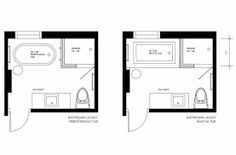 Image result for layout for a 5' x 8' bathroom