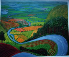"""David Hockney (English)  """"Garrowby Hill"""", 1998"""