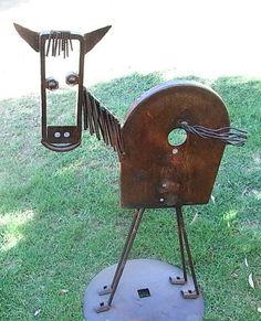 If you were looking for (metal garden art), take a look below Recycled Metal Art, Scrap Metal Art, Metal Projects, Metal Crafts, Art Projects, Metal Art Sculpture, Metal Sculptures, Abstract Sculpture, Bronze Sculpture