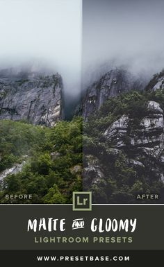 'Matte & Gloomy' Lightroom Presets by Presetbase. With this collection of presets you will be able to achieve a matte and desaturated look in combination with dark and moody landscapes.