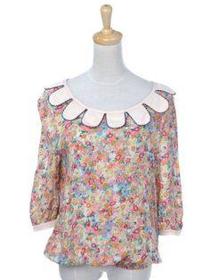 Anna-Kaci S/M Fit Multicolour Mini Granny Floral Print Loose Flow Bubble Blouse Anna-Kaci. $17.00
