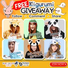FREE Halloween Kigurumi Giveaway 乂⍱‿●乂 Join this another fun filled Monster Giveaway from Kigu Kawaii! JOIN NOW ► http://on.fb.me/1k6A7wL We are giving away any of these comfortable kigurumi onesies for FREE! Tag 5 friends to increase chances of winning! Simply follow the mechanics! 1 winner will receive 1 kigurumi of his/her own choice. Contest will run from October 15, 2015 - October 21, 2015. We will announce our winner on our newsletter and social media accounts on October 22, 2015.