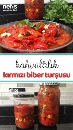 Pickled Red Pepper for Breakfast (Don't Stay Unsuccessful) How to make recipe … – Yemek tarifleri Turkish Yogurt, Turkish Recipes, Ethnic Recipes, Romanian Food, Everyday Food, Red Peppers, Pickles, Healthy Life, Food To Make