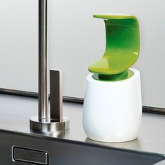 C-pump™ soap dispenser - by Joseph Joseph - Uses the back of your hand to pump soap