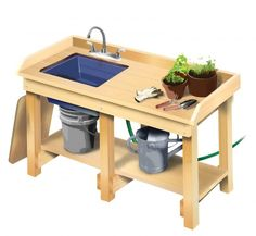 might want to see if I can find something that's more like a potting table with a sink