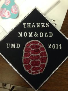 Umd themed graduation cap maryland umd feartheturtle do it except the shell would be md flag solutioingenieria Choice Image