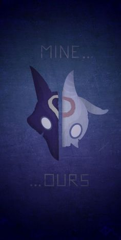 League of Legends Kindered Poster - the Eternal Hunters | minimalist poster LoL | mine... ours... | Fan Art MOBA gaming | Lamb and Wolf