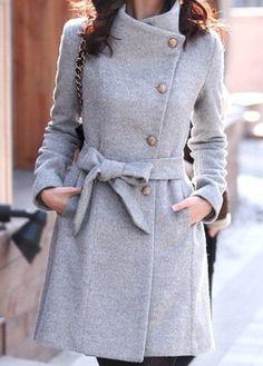 Gray Wool Jacket women coat winter jacket Autumn by fashiondress6