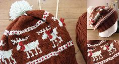 I'm just finding all sorts of animal patterns lately! Moose Fair Isle Hat - Free Knitting Pattern