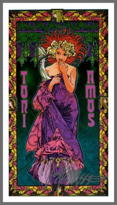 Tori Amos RAINN Bob Masse Poster 1999