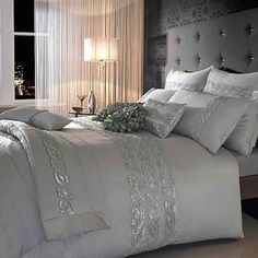 Feminine bedroom with just the perfect amount of sparkle!