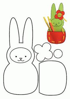 Tavşan Kalıbı. Rabbit printables. Molde del conejo. кролик.
