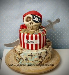 Awesome Pirate Cake!  Don't know if I could ever pull something like this off...