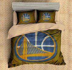 2cc6061b8 Custom Golden State Warriors 3D Bedding Set Duvet Cover Set 3PCS Flat Sheet  Pillowcases