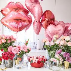 Are you going to have a party on Valentine's Day? if yup, here are Valentine's Party Decorations Ideas for you. Almost inseparable colors for parties on Valentine&… Valentines Day Party, Valentines Day Decorations, Valentine Day Love, Brunch Party Decorations, Walmart Valentines, Pink Decorations, Valentines Balloons, Valentines Day Photos, Valentinstag Party