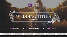 Buy Wedding Titles for After Effects by ZuzuZa on VideoHive. Titles Pack for AE is a simple to use and lovely animated template to make memorable intro, wed. Love Story Video, Traditional Wedding Vows, Wedding Titles, Wedding Vows To Husband, Cinematic Trailer, Nontraditional Wedding, Creative Video, Wedding Videos, After Effects