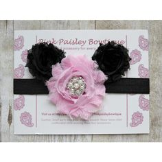 Baby Headband Baby Hair Accessories Minnie Mouse Headband Baby Girl... (€9,61) ❤ liked on Polyvore featuring accessories, grey, hair accessories and headbands & turbans