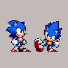 Sonic The Hedgehog, Hedgehog Movie, Retro Video Games, Video Game Art, Sonic 25th Anniversary, Sonic Team, Pixel Art, Videogames, Mundo Dos Games